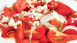 Tomato and Watermelon Summer Salad