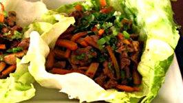 Hoisin Marinated Beef Lettuce Wraps