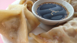 Kimchi and Sausage Potstickers
