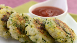 Poha Cutlets (Iron Rich) by Tarla Dalal