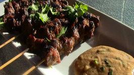 Beef Satay with Peanut Sauce - Rib Eye Steak Satay