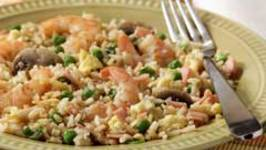 Fried Rice With Shrimps And Vegetables