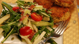 Dandelion, Apple, Fennel Salad