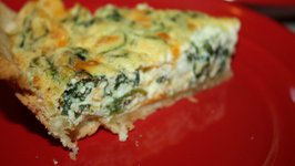 Spinach and Fresh Ricotta Quiche- Torta Salata di Ricotta e Spinaci