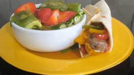 Steak Fajita with Fruit and Lettuce Salad