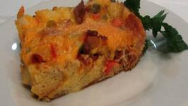 Bacon and Cheddar Strata -- Lynn's Easter Brunch