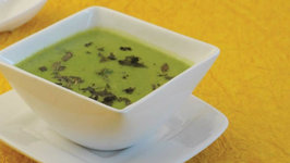 Green Peas and Mint Soup by Tarla Dalal