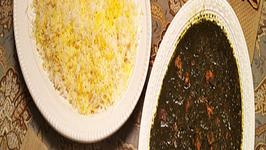 Khoresht Aloo Esfenaj (Spinach and Dried Plum Stew)