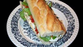 High Protein Salmon Baguette Sandwich With Lemon Mayonnaise