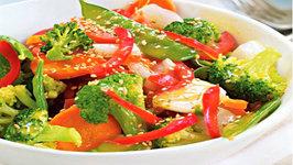 Vegetable Stir-Fry with Lemon Butter Sauce