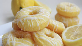 Baked Lemon Cake Donuts with Lemon Glaze