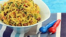 Chana Spinach Rice by Tarla Dalal