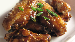 Deep Fried Chicken Wings with Ginger Lemon Sauce