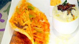 Schezwan Butter Dosa - Indian Crepe