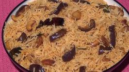 Vangi Bath - Brinjal  Eggplant Rice