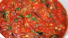 Oven Roasted Tomato, Bell Pepper and Onion Salsa