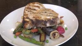 Grilled Swordfish and Roasted Spring Vegetables