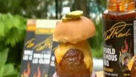 Plank Grilled Baseball  Burgers