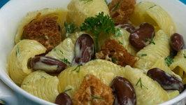 Curried Pasta and Bean Salad by Tarla Dalal