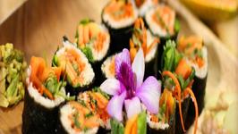 Raw Vegan Papaya Sushi Rolls