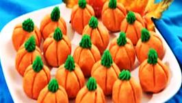 Peanut Butter Fudge Pumpkins - Happy Halloween