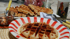 How to Make Peanut Butter and Jelly Waffles