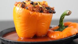 Bean Stuffed Bell Peppers