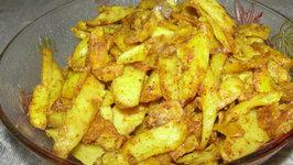 Kurkuri And Spicy Arbi (Stir Fried Arbi)