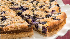 Wegmans Gluten-Free Sugar Cookie Cheesecake with Blueberries