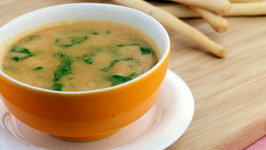 Lentil and Spinach Soup (Calcium Rich) by Tarla Dalal
