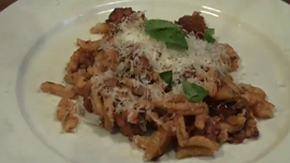 Saffrony Malloreddus with Sausage and Cheese