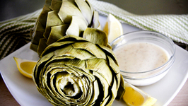 Boiled Artichokes with Lemon Beurre Blanc