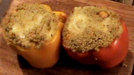 Peppers Stuffed With Pesto Couscous And Chickpea Salad
