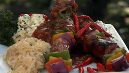 Char Sui Beef Kabobs
