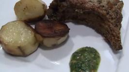 Roasted Pork Rib with Baked Potatoes