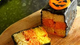 Candy Corn Battenberg Cake