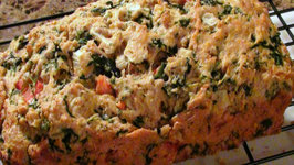 Spinach Tomato and Onion Quick Bread