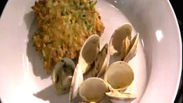 Wegmans Classic Steamed Clams with Zucchini and Corn Cakes