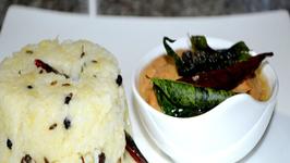 Katte Pongali Ghee Pongal - Seasoned Rice and Lentil Porridge