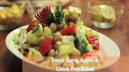 Fresh Corn, Apple and Chickpea Salad
