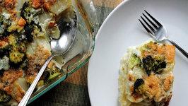Potato and Broccoli Gratin with Gorgonzola