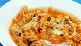 Fusilli with Red Pepper Sauce by Tarla Dalal