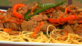 Healthy Asian Pork and Pasta