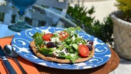 Slimmer Greek Salad Pizza