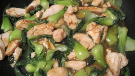 Stir Fried Smoked Chicken with Chinese Leaves