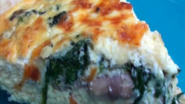 Entertaining Cheesy Spinach and Mushroom Quiche