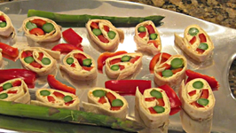 How to Make Red Pepper, Asparagus Rollup Appetizers