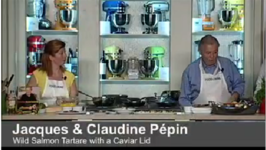Jacques And Claudine Pépin's Wild Salmon Tartare With A Caviar Lid
