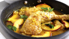 South African Nectarine and Lemon Chicken with Pilaf Rice
