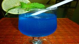 Blue Lagoon Cocktail Mocktail With Desi Citrus Twist